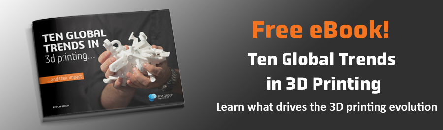 Banner to download the ebook Ten global trends in 3D printing