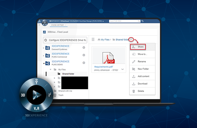 3DEXPERIENCE: How to share 3D Drive