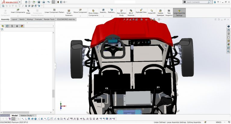 3D CAD drawings in SOLIDWORKS of OMotion 2. Photo: OMotion