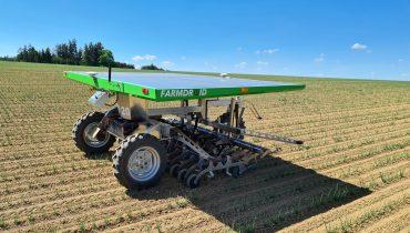 Farmdroid robot on a field
