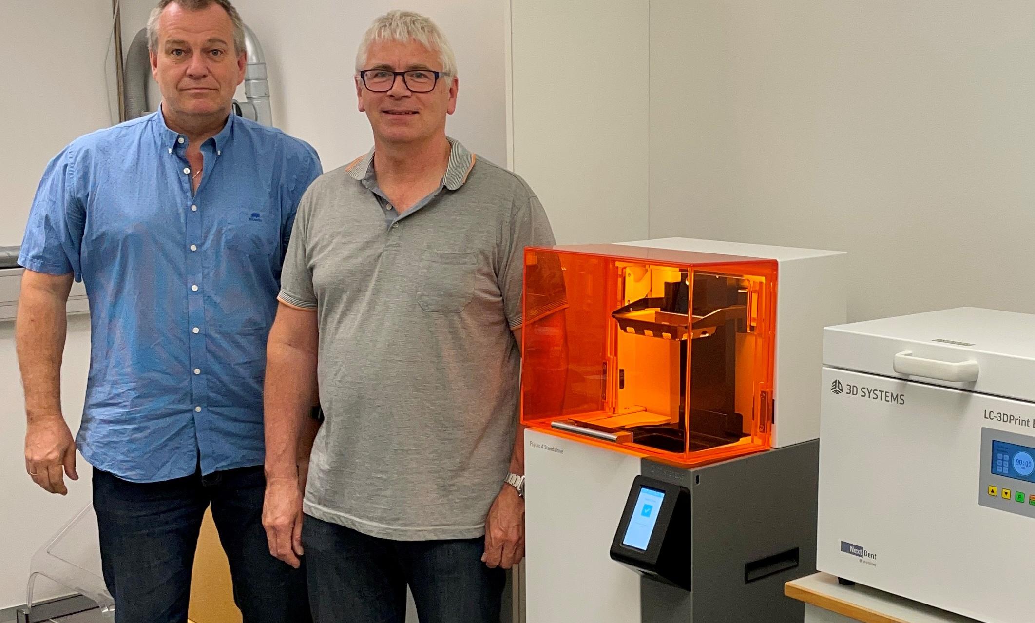 Tonny Socha Refshammer and Henry Frederiksen, tooling designers, at Widex.